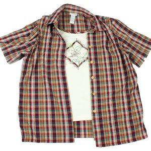 Ladies Napa Valley Short Sleeve Shirt Size M